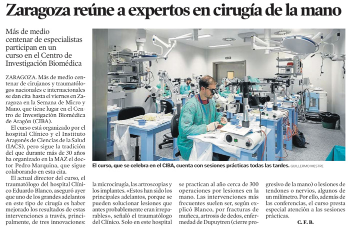 I Semana de Micro y Mano. Zaragoza, 2018