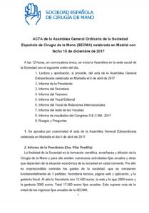 Acta Asamblea SECMA diciembre 2017