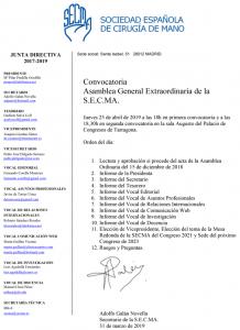 Convocatoria asamblea extraodinaria abril 2019 Tarragona