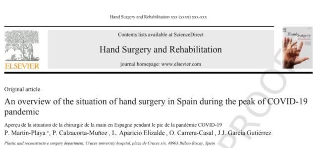 ¿Cómo ha afectado la pandemia del COVID-19 a la Cirugía de Mano?